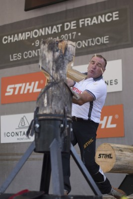 Stihl Timbersports French Championship in Les Contamines-Montjoie 09.07.2017 Gilles Giguet Foto: Limex Images/Andreas Schaad